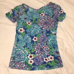 Never worn Lilly Pulitzer floral tee-shirt